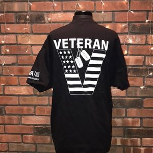 Veterans Proudly Served Tee Patriotic Military